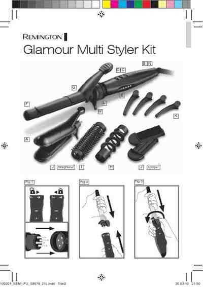 REMINGTON MULTI STYLE 5 IN 1 S8670 Straightener download