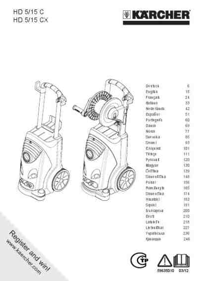 KARCHER HD 5-15C Tools download manual for free now