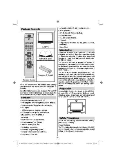 DIGIHOME 32914LCD TV/ Television download manual for free