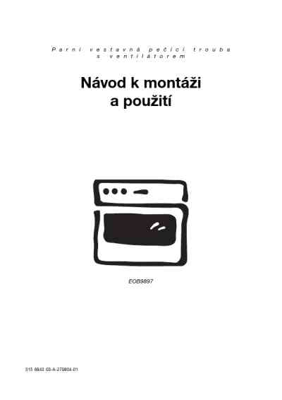 ELECTROLUX EOB 9897 X Oven download manual for free now