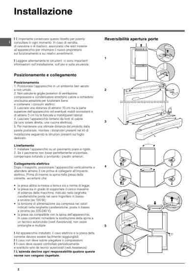 INDESIT BAAN 12 270L Fridge/ Refrigerator download manual