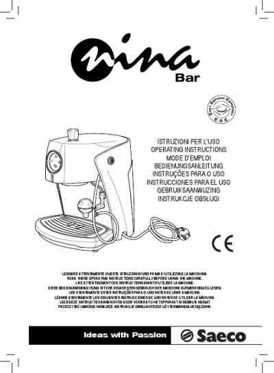 SAECO NINA Coffee maker download manual for free now