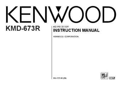 KENWOOD KMD-673R MP3 player/ walkman download manual for