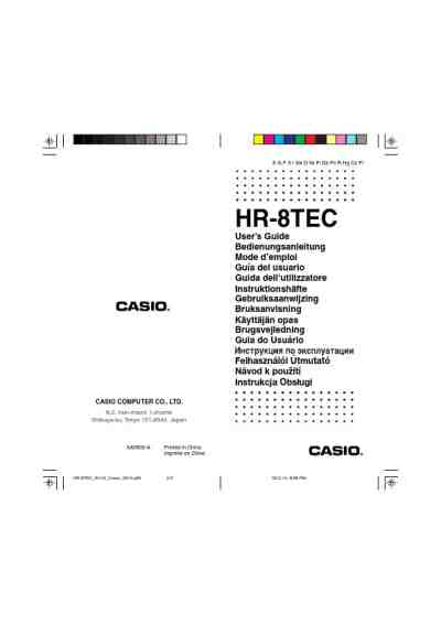 CASIO HR-8TEC Calculator download manual for free now