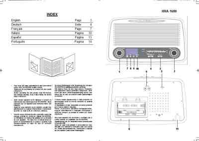 ROADSTAR HRA-1600 HiFi system download manual for free now