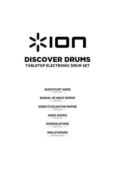 ION DISCOVER DRUMS others download manual for free now