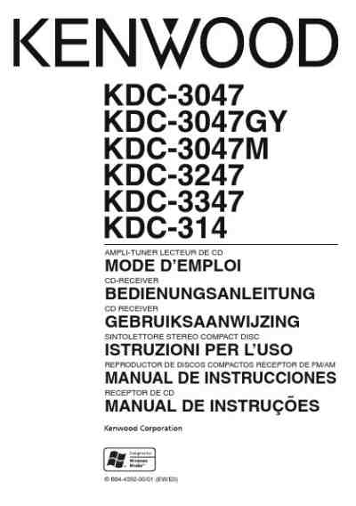 Kenwood Car Radio Instructions