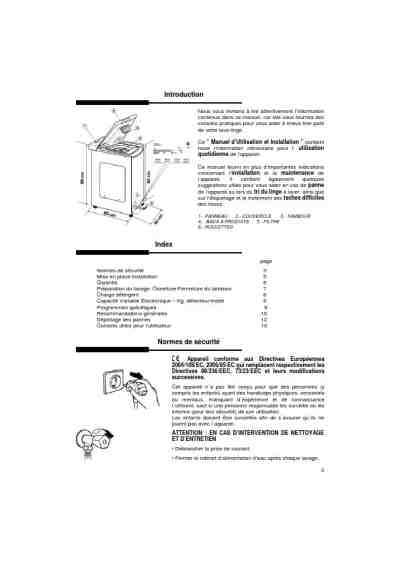 HOOVER HNT 6614 D Washing machine download manual for free