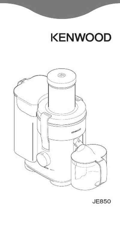 KENWOOD JE850 Juice extractor download manual for free now