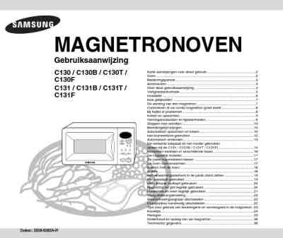 SAMSUNG C 131 T SL Microwave oven download manual for free
