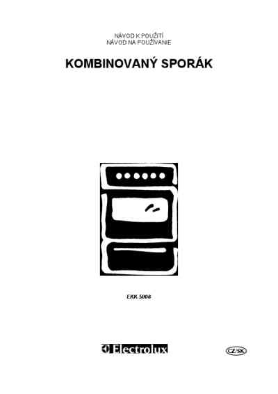 ELECTROLUX EKK5008 Cooker/ stove download manual for free
