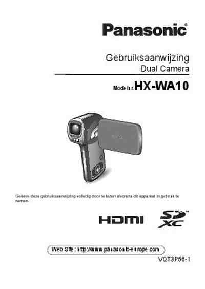 PANASONIC HX-WA10 Video Camera download manual for free