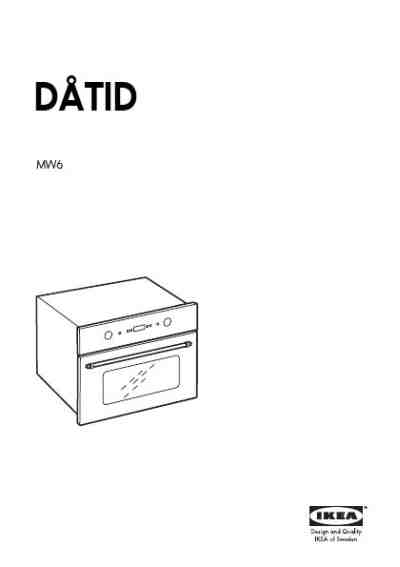 IKEA DATID MW6 Microwave oven download manual for free now