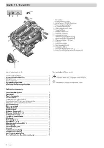 TRUMATIC COMBI 4 E Central heating download manual for