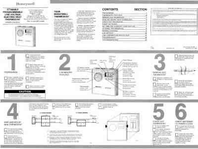 HONEYWELL CT1600 Central heating download manual for free