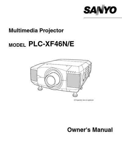 SANYO PLC XF46 Projector download manual for free now