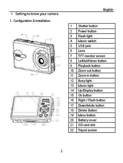 VIVITAR VIVICAM 5399 The camera/ Camera download manual