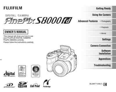 FUJIFILM FINEPIX S8000FD The camera/ Camera download