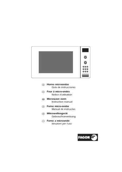 FAGOR MW3_245GEX Microwave oven download manual for free