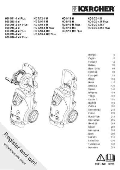 KARCHER HD 6-15-4 M Tools download manual for free now