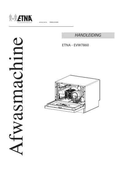 ETNA EVW7860 Dishwasher download manual for free now