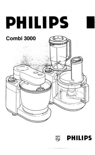 PHILIPS COMBI 3000 Mixer download manual for free now