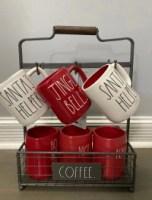 rae dunn coffee mug rack spices rack