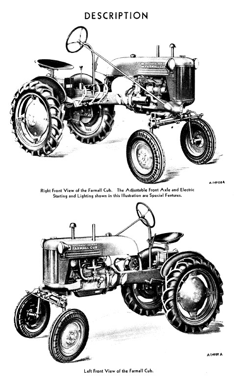Farmall Cub Tractor Owner's Manual Download PDF