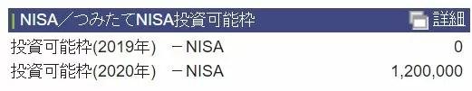 一般NISA枠の残高