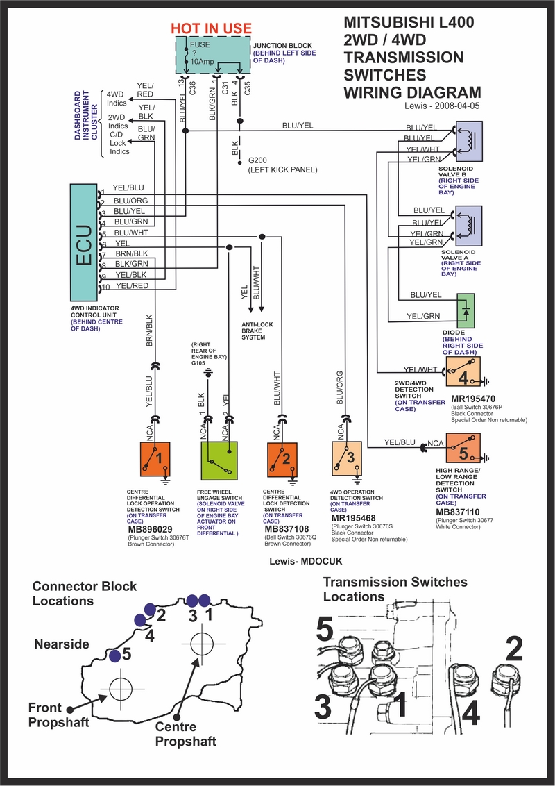 medium resolution of mitsubishi delica owners club uk view topic 2wd 4wd delica central locking wiring diagram