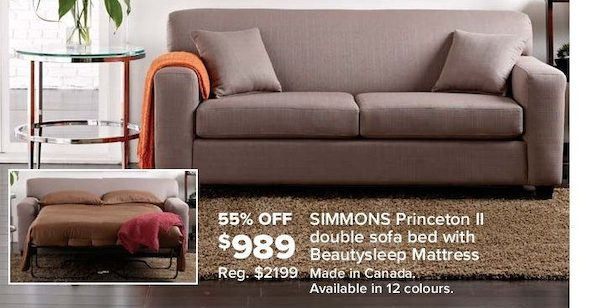 sears full size sleeper sofa corner beds next day delivery double bed canada | brokeasshome.com