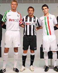 Juventus 2010/11 shirts