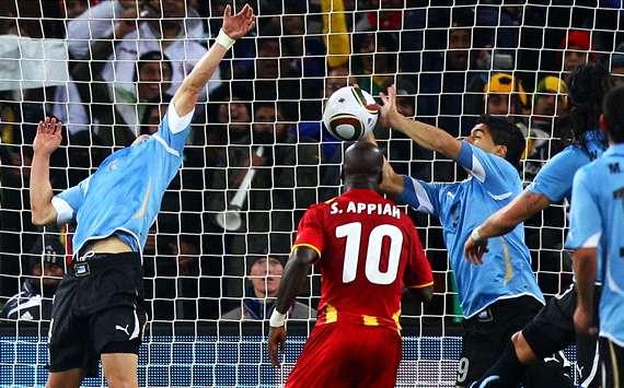 Image result for suarez handball