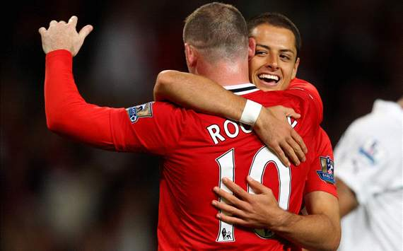 Javier Hernandez and Wayne Rooney, Manchester United (Getty Images)