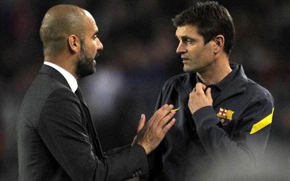 pep guardiola and titp vilanova (barcelona technical staff)
