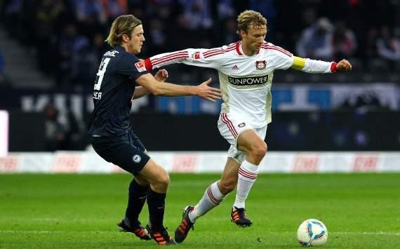 German Bundesliga: Hertha BSC Berlin - Bayer Leverkusen, Peter Niemeyer, Simon Rolfes