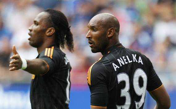 Pre-Season Friendly- Hamburger SV v Chelsea,Didier Drogba and Nicolas Anelka