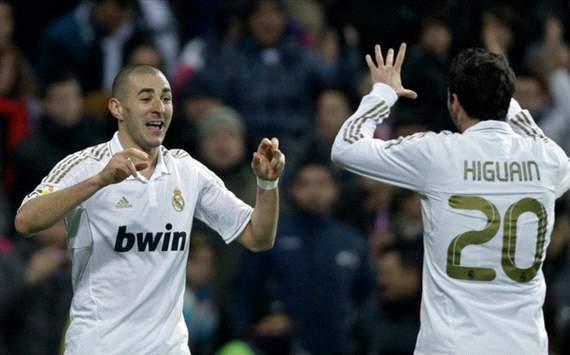Copa del Rey: Real Madrid-Málaga: Karim Benzema y Gonzalo Higuain