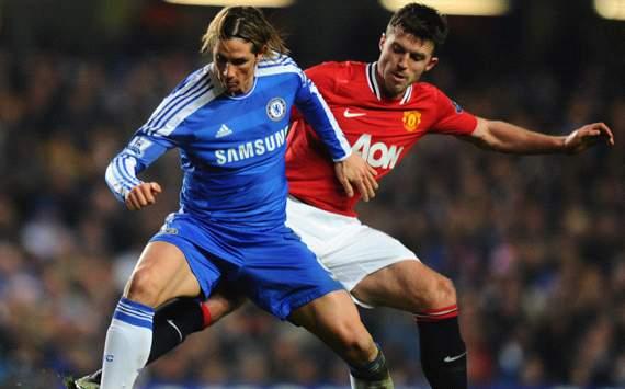 Fernando Torres & Michael Carrick, Chelsea v Manchester United