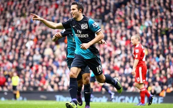 EPL: Robin van Persie, Liverpool v Arsenal