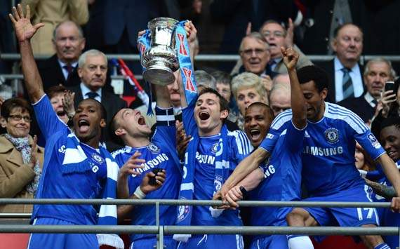 FA Cup Final, Liverpool v Chelsea, Didier Drogba, John Terry, Frank Lampard, Florent Malouda and Jose Bosingwa