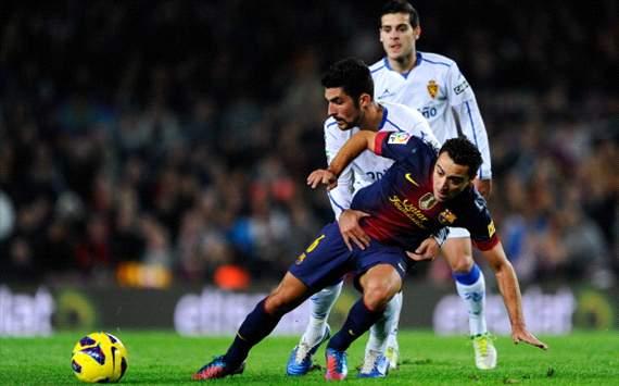 Xavi Hernández, Barcelona-Zaragoza, Liga BBVA