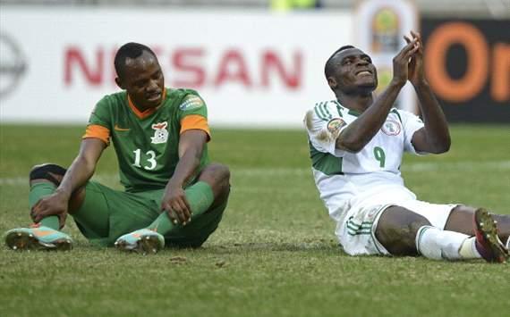 Stoppila Sunzu, Emmmanuel Emenike - Zambia vs Nigeria