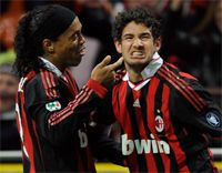 Ronaldinho & Pato - Milan (Getty Images)
