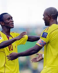 Zah Rahan Karangar & Keith Jerome Kayamba Gumbs - Sriwijaya FC Palembang (GOAL.com / Bobby Redonia)