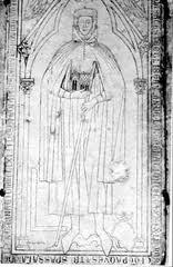 Lápida de Hugh Libergier, arquitecto de Reims
