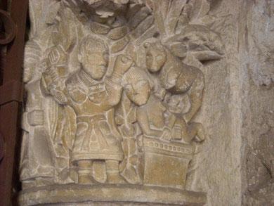 Capitel con escena del Sacrificio de Isaac, Colegiata de San Isidoro de León