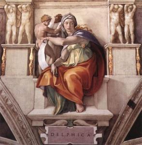 Sibila Delfos. Capilla Sixtina. Miguel Angel