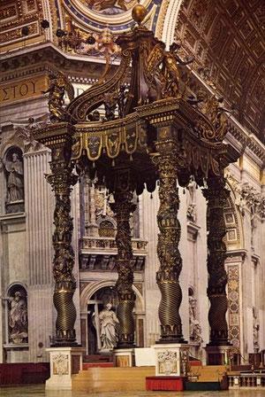 Baldaquino de San Pedro. Bernini.1624