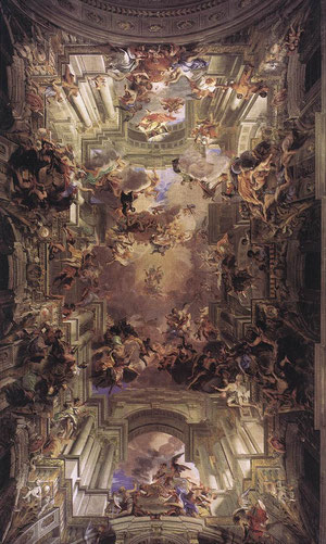 Andrea Pozzo. Apoteósis de San Ignacio 1691-94